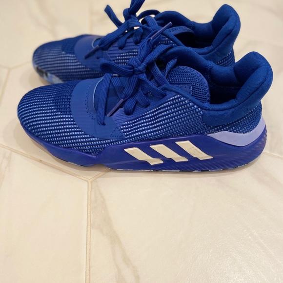 Adidas Blue Low Cut Basketball Shoes